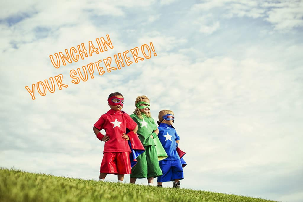 A trio of superheroes are ready for life's challenges.
